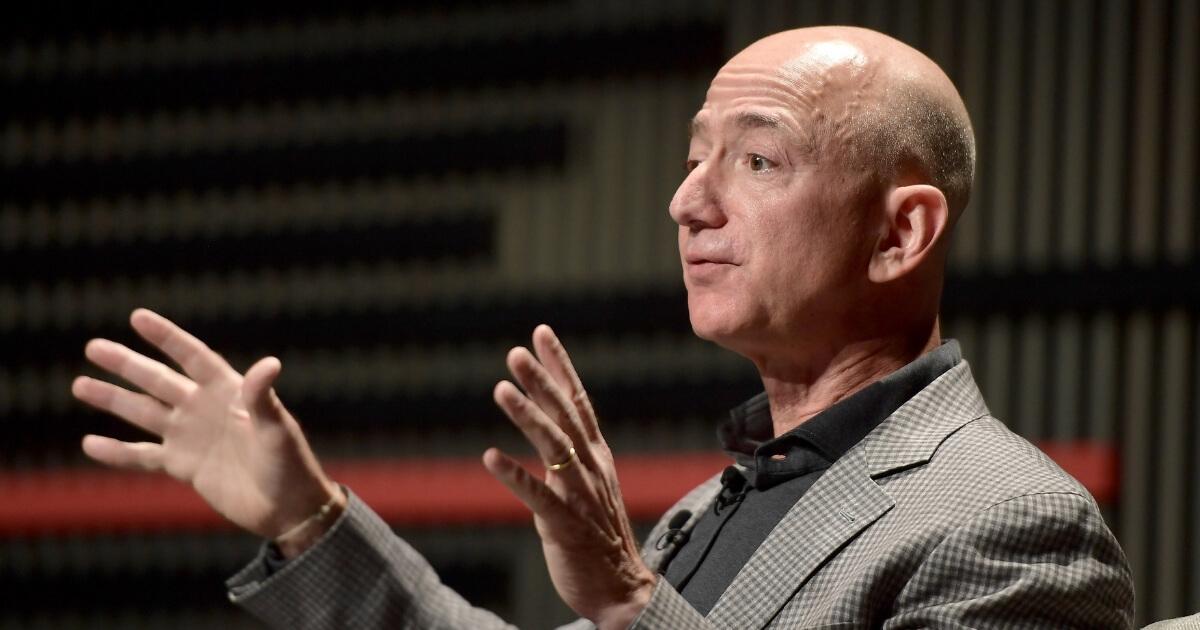 Jeff Bezos speaks onstage at WIRED25 Summit
