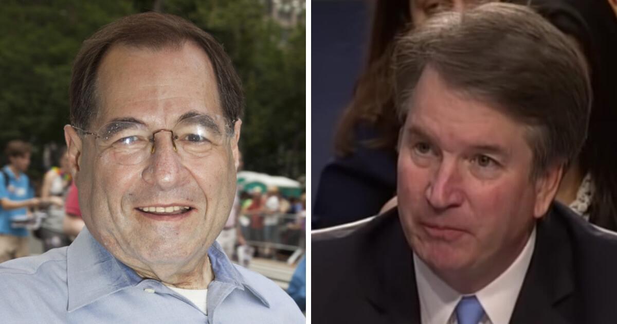 Democratic Rep. Jerry Nadler and Supreme Court Justice Brett Kavanaugh.