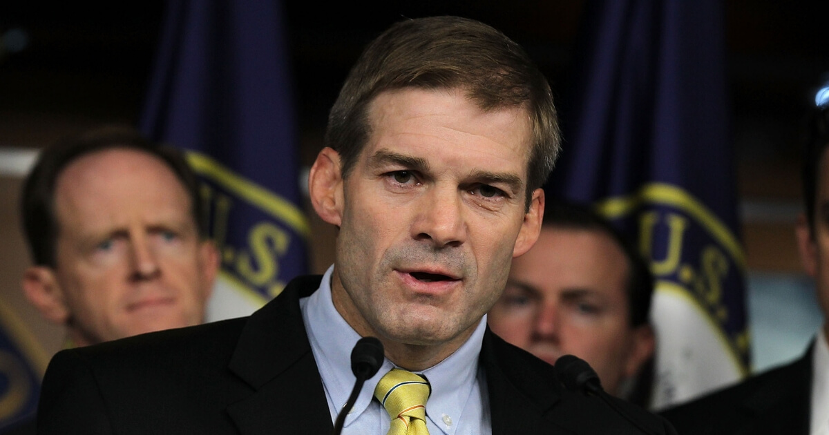Rep. Jim Jordan (R-Ohio) speaks during a news conference on July 26, 2011.