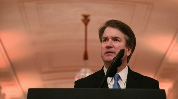 Newly sworn-in Associate Justice of the US Supreme Court Brett Kavanaugh