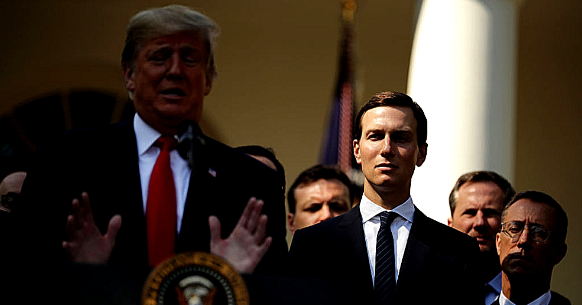 White House senior adviser Jared Kushner listens as President Donald Trump discusses a revised U.S. trade deal with Mexico and Canada trade deal Oct. 1 at the White House.