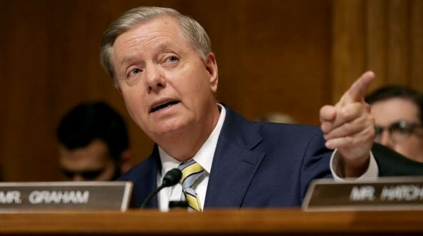 Senate Judiciary Committee member Sen. Lindsey Graham delivers remarks about Supreme Court nominee Judge Brett Kavanaugh.