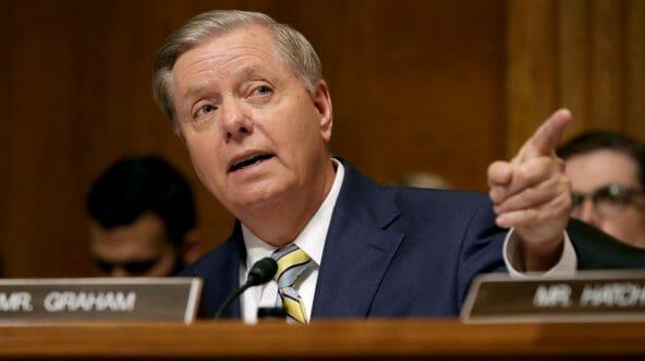 Senate Judiciary Committee member Sen. Lindsey Graham delivers remarks about Supreme Court nominee Judge Brett Kavanaugh.