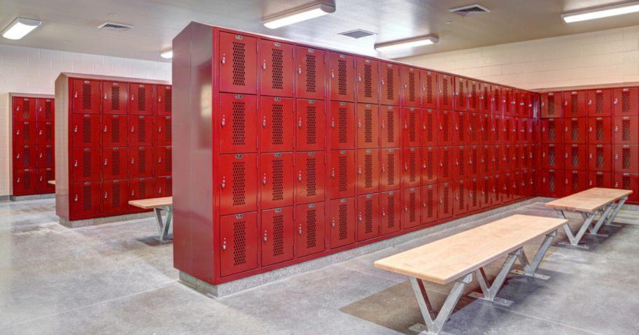 A school locker room
