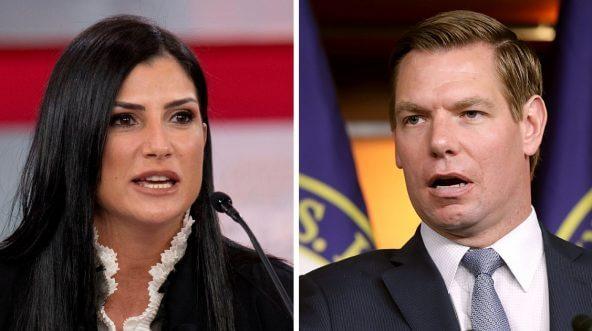 NRA spokeswoman Dana Loesch, left, and Rep. Eric Swalwell, D-Calif.