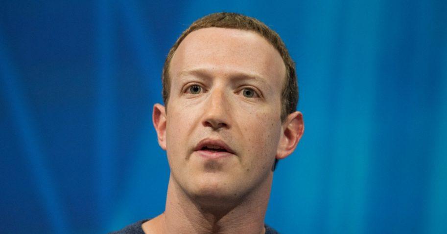 Facebook CEO Mark Zuckerberg during a speech