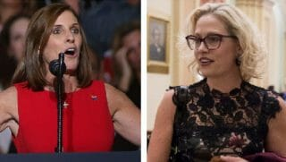 Rep. Martha McSally, right; Rep. Kyrsten Sinema, left.
