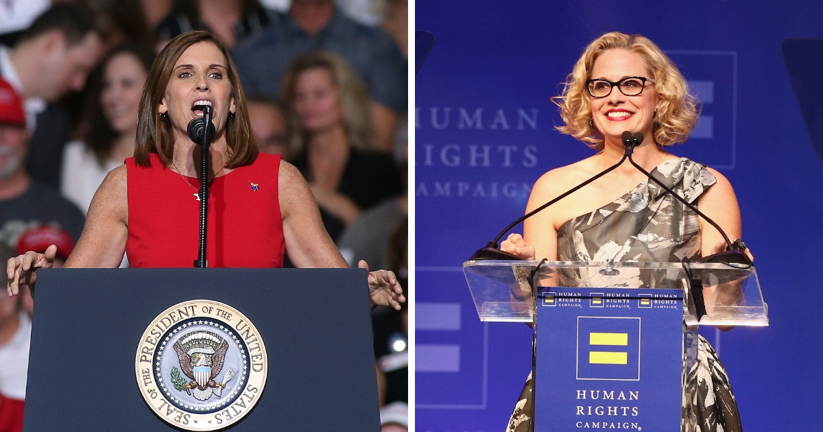 Martha McSally and Kyrsten Sinema