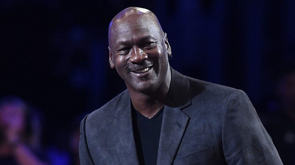 Michael Jordan attends the NBA All-Star Game on Feb. 18 at Staples Center in Los Angeles.
