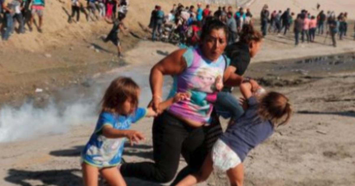 A migrant mom fleeing tear gas