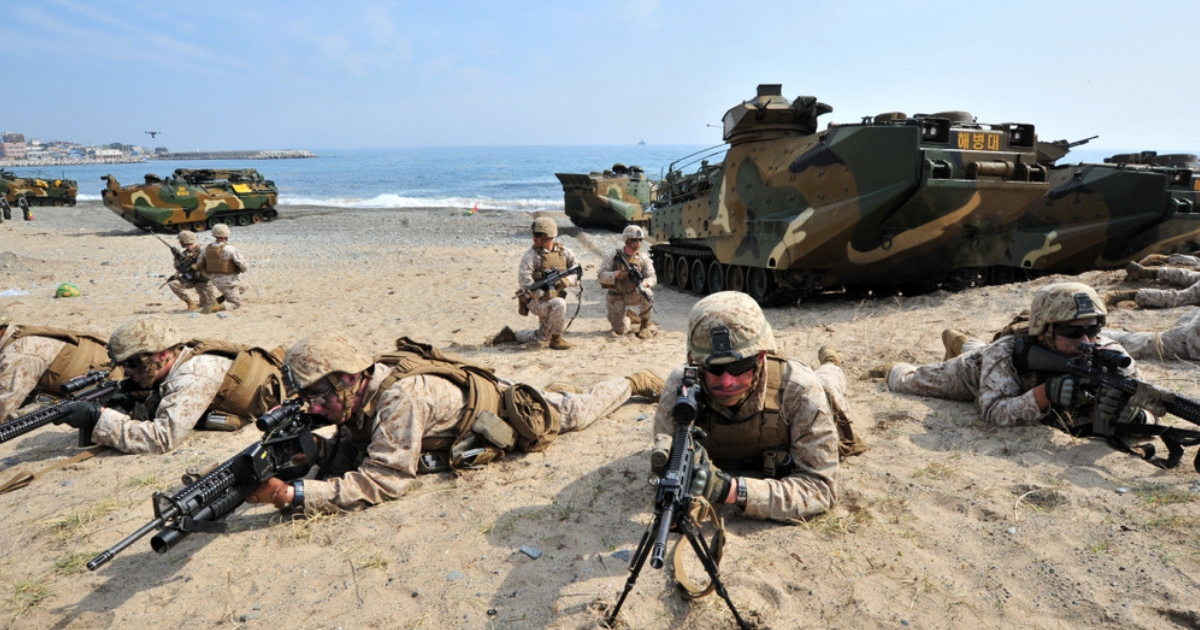 A U.S. military training exercise in South Korea.