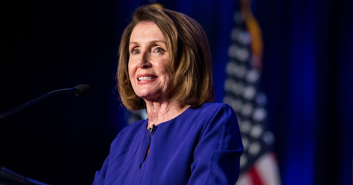 House Minority Leader Nancy Pelosi speaks during a DCCC election watch party at the Hyatt Regency on November 6, 2018, in Washington, D.C.