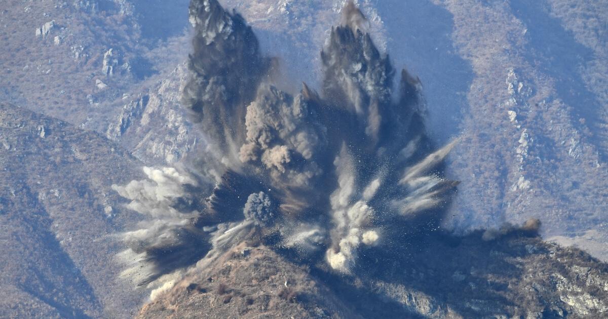 North Korean guard post explosion