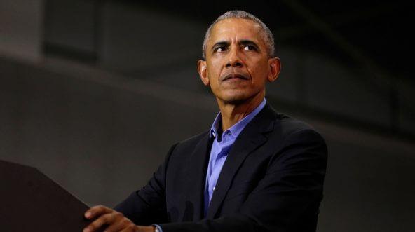 Former President Barack Obama speaks