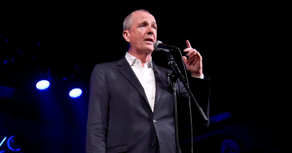 Governor of New Jersey Phil Murphy speaks onstage during the Grand Re-Opening of Asbury Lanes at Asbury Lanes on June 18, 2018.