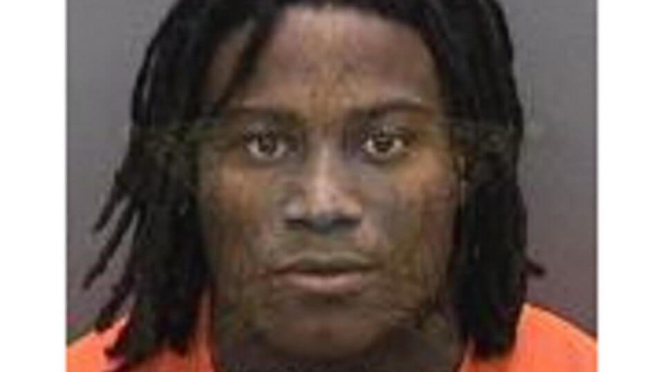 Jail mug shot of Reuben Foster