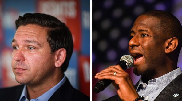 Ron DeSantis (left) and Andrew Gillum (right)