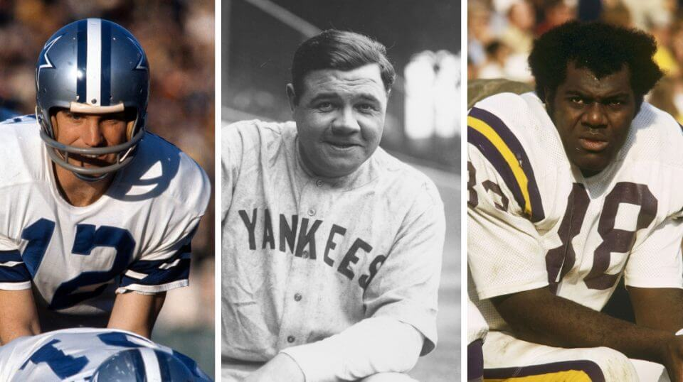 Dallas Cowboys quarterback Roger Staubach,New York Yankees icon Babe Ruth and Minnesota Vikings defensive tackle Alan Page will all receive the Presidential Medal of Freedom.
