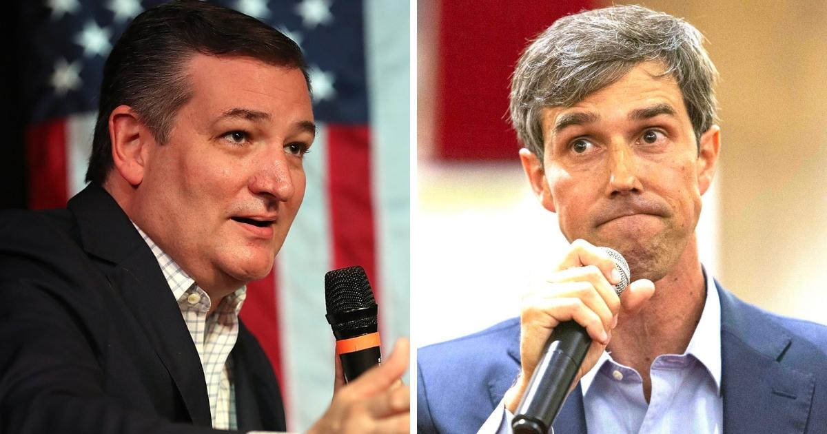 Republican Sen. Ted Cruz of Texas, left, and Democratic rival Beto O'Rourke.