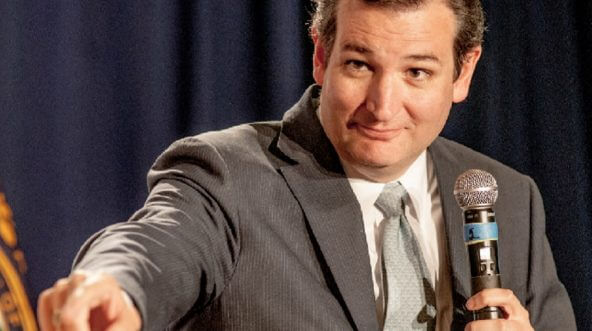 Ted Cruz pictured speaking in a file photo from 2014.