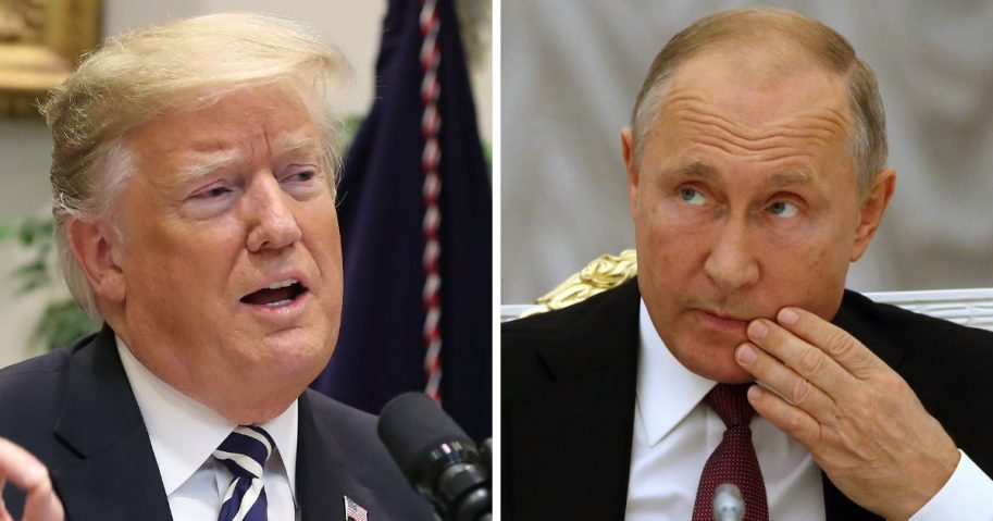 President Donald Trump, left, and Russian President Vladimir Putin