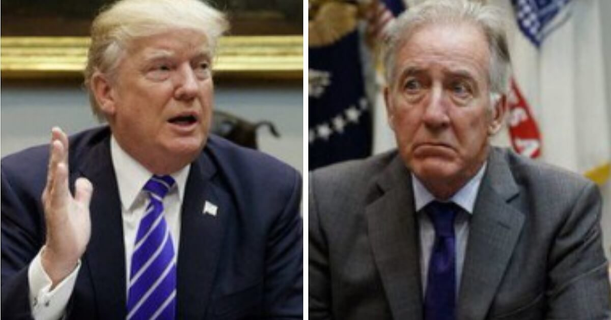 President Donald Trump, left; and Rep. Richard Neal, right.