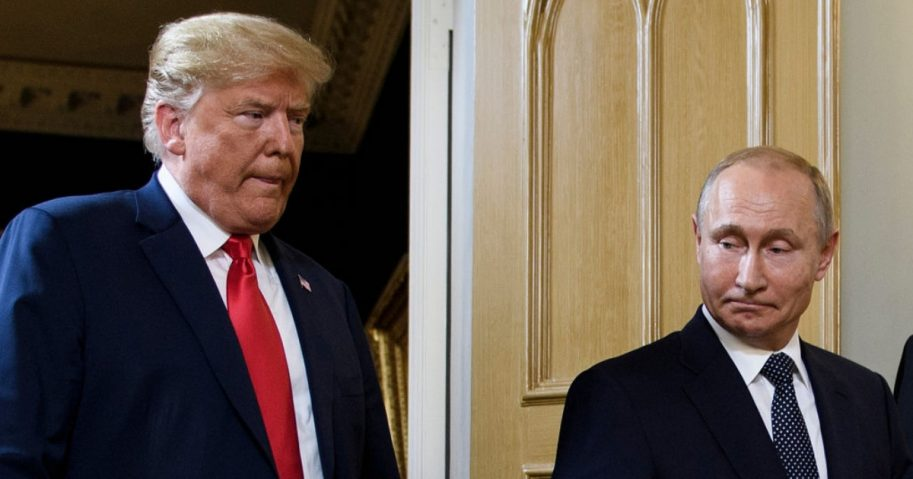 President Donald Trump and Russian President Vladimir Putin as pictured during their summit in Helsinki in June.