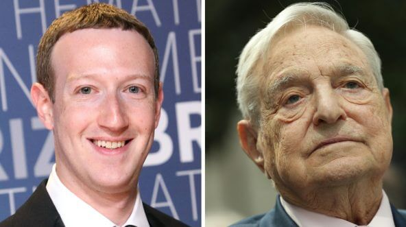 Mark Zuckerberg and George Soros