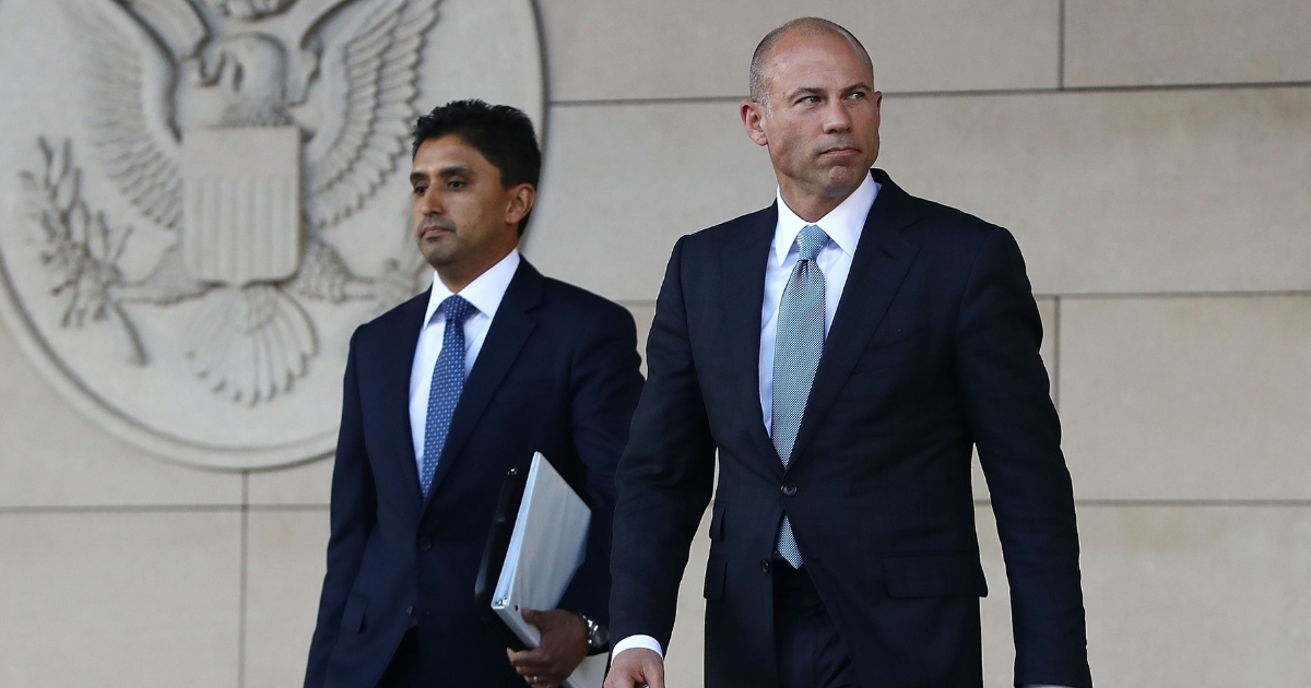 Michael Avenatti leaves the U.S. District Court for the Central District of California