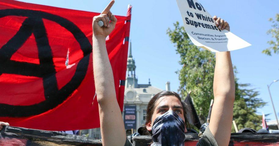 Antifa protest at Berkeley