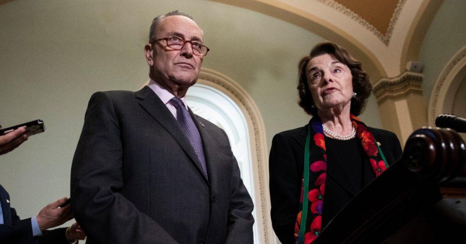 Senate Minority Leader Chuck Schumer and Senate Judiciary Committee ranking member Dianne Feinstein