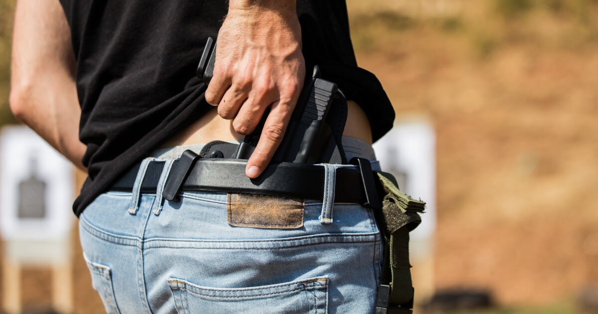 Man with a concealed carry weapon.