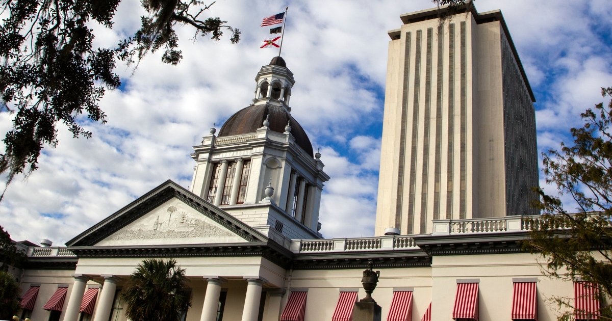 A view of the historic Old Florida State Capitol building, which sits in front of the current New Capitol, on November 10, 2018