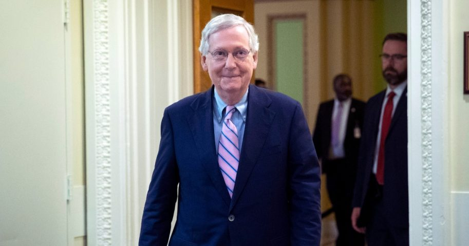 Senate Majority Leader Mitch McConnell.