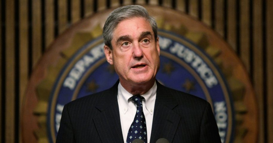 Robert Mueller speaks during a news conference