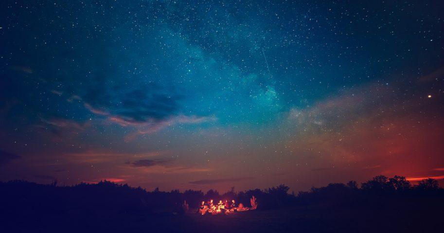 Night Sky Campfire