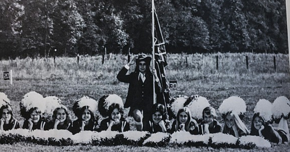Republican Sen. Cindy Hyde-Smith, third from the right, appears in a 1975 yearbook photo.