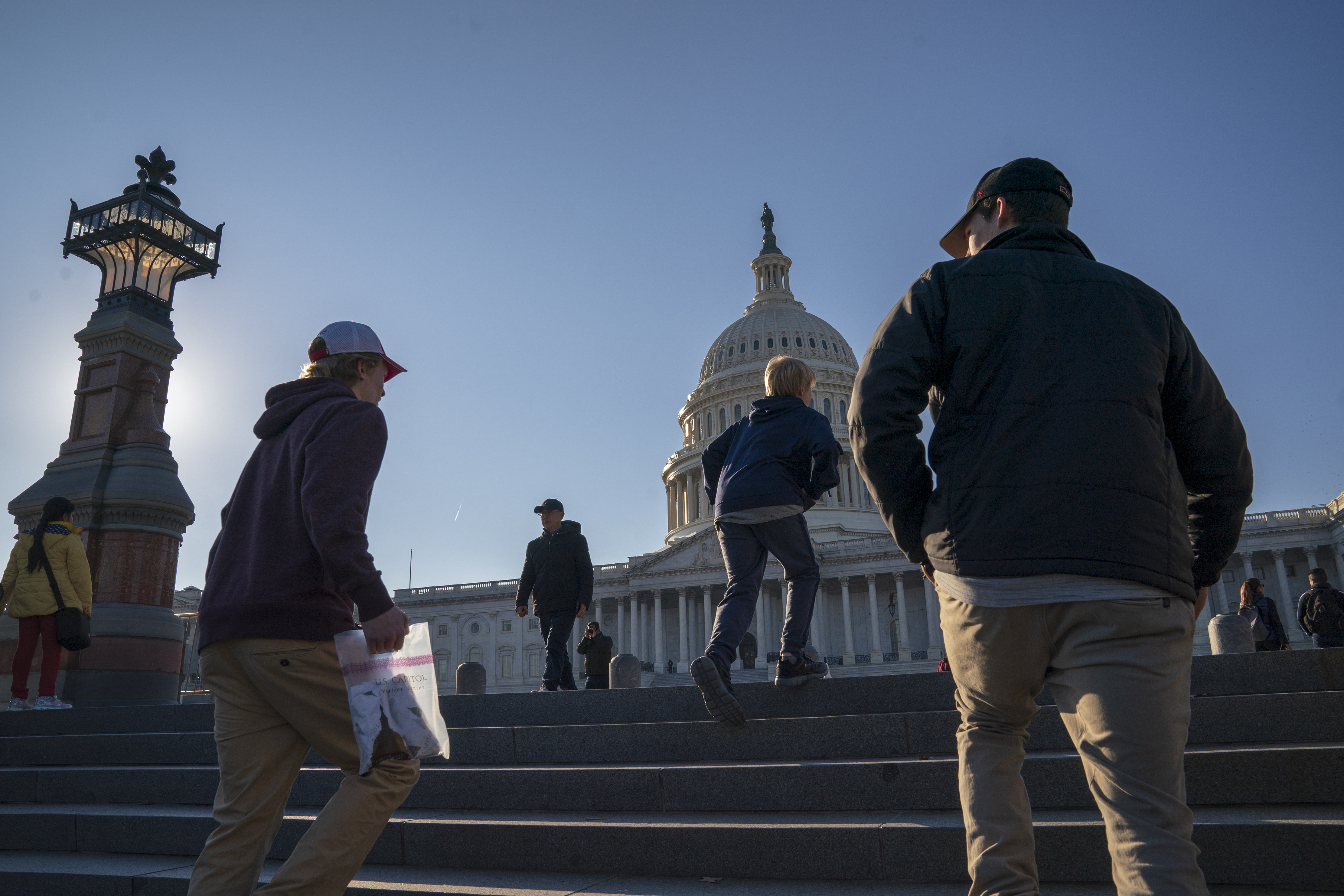 People visit the Capitol