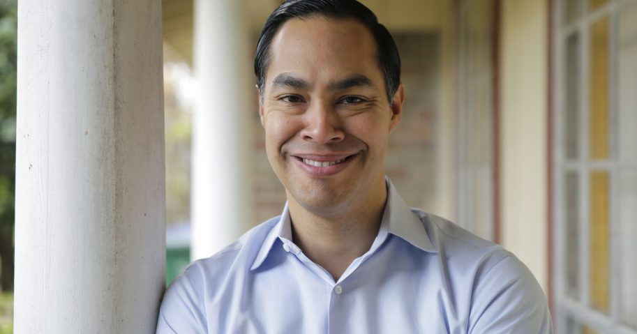 Democrat Julian Castro poses for a photo at his home in San Antonio on Tuesday.
