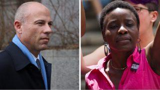 Michael Avenatti, left; and Therese Okoumou, right.