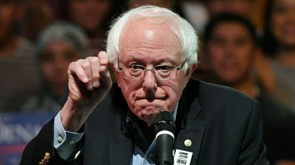 Sen. Bernie Sanders of Vermont speaks during a Democratic political rally Oct. 25 in Las Vegas.