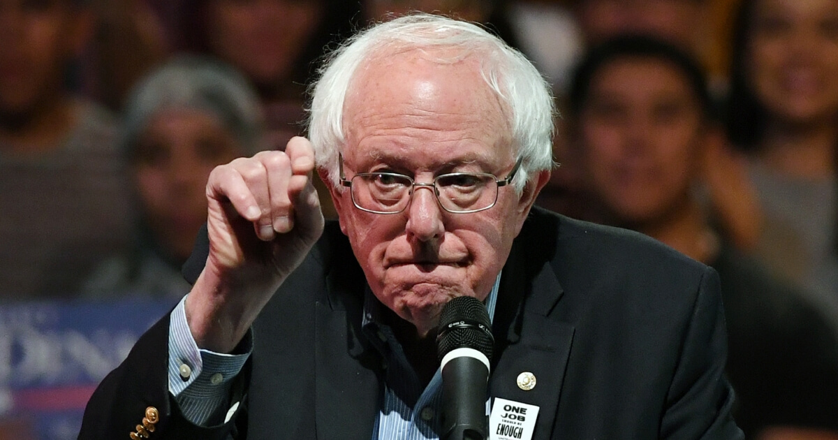 Sen. Bernie Sanders of Vermont speaks during a Democratic political rally Oct. 25 in Las Vegas.