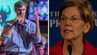 Texas Rep. Beto O'Rourke and Massachusetts Sen. Elizabeth Warren