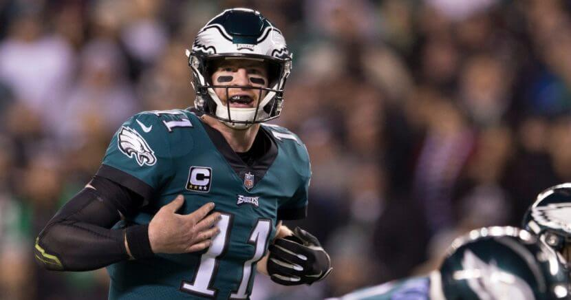Philadelphia Eagles quarterback Carson Wentz in action against the Washington Redskins at Lincoln Financial Field on Dec. 3.