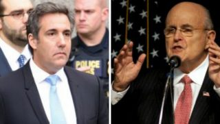 Michael Cohen and Rudy Giuliani