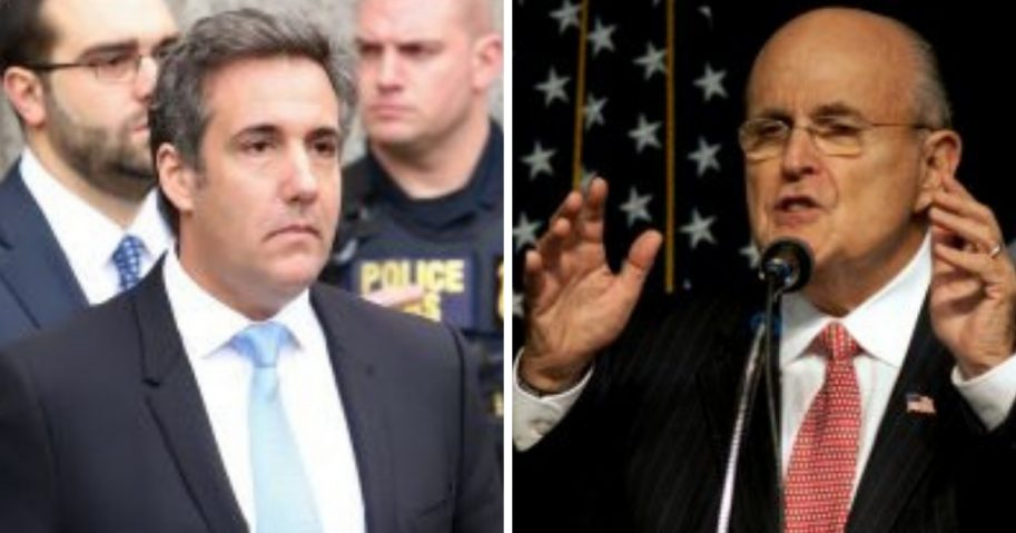 Michael Cohen and Rudy Giuliani