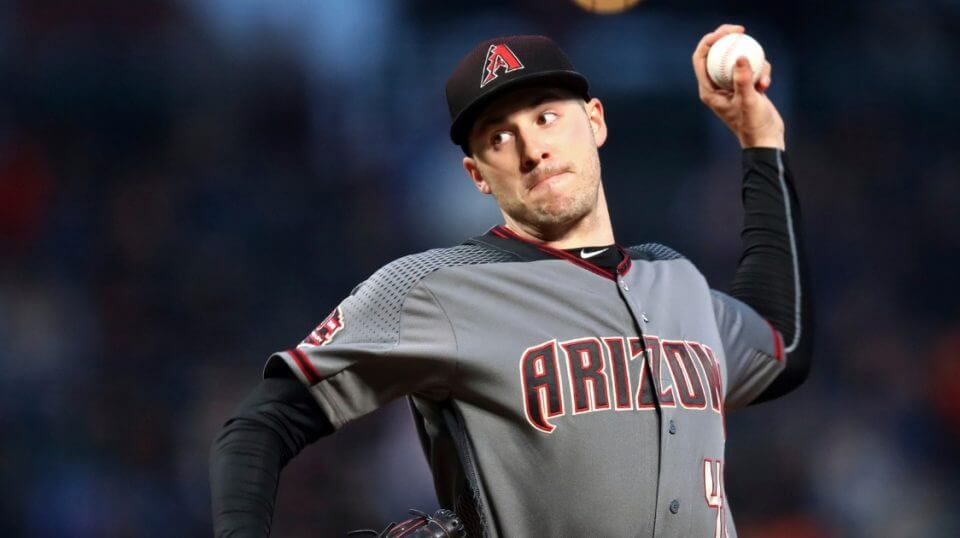 Patrick Corbin pitches for the Arizona Diamondbacks