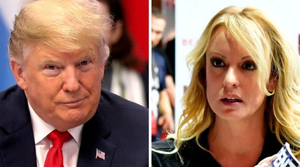 President Donald Trump and adult film actress Stormy Daniels.