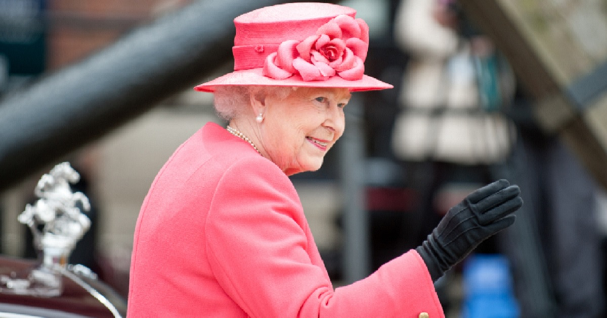 Queen Elizabeth II waves to supporters in London in 2012 as she celebrated her 60th year on the throne.