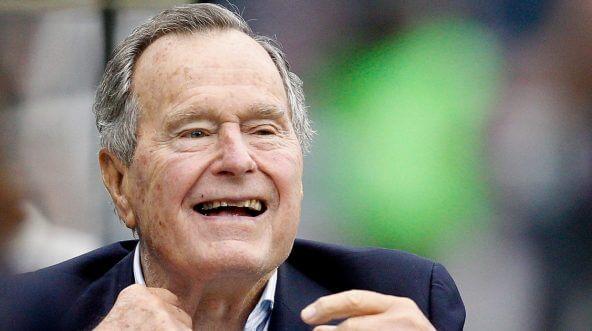 Former President George H.W. Bush in 2013.